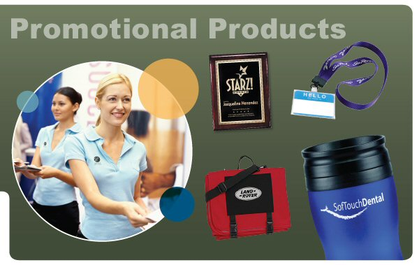 Custom promotional products. Tradeshow giveaways. Green, eco-friendly, promotional products.